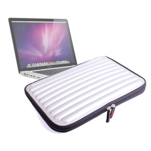 Durable Protective Silver Memory Foam Laptop Case For